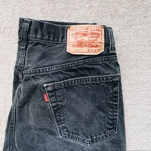 Levi's Black 505 Vintage Regular Fit